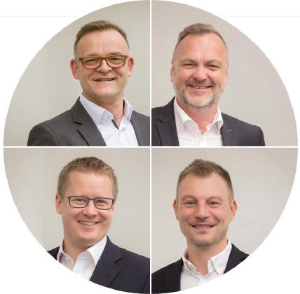 Steuerberater Stefan Werz, Jürgen Kraft und Ingo Vogt, sowie Fachanwalt für Steuerrecht Marc Frederic Jäckel XXX